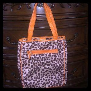 Orange and Leopard 🐆 Print tote